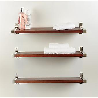 3 piezas Industrial Modern Wood Wall Shelf Set 7.75'' X 38''