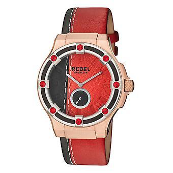 Rebel Women's Flatbush Burgundy/Black Dial Leather Watch
