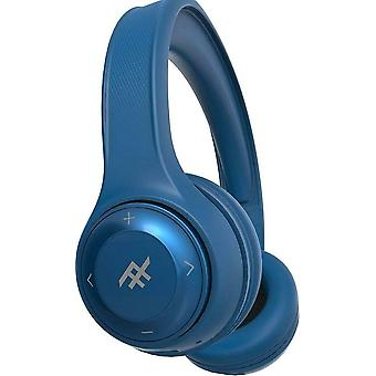 iFrogz Bluetooth Headphones Aurora Noise Isolating On-Ear Controls + Mic- Blue