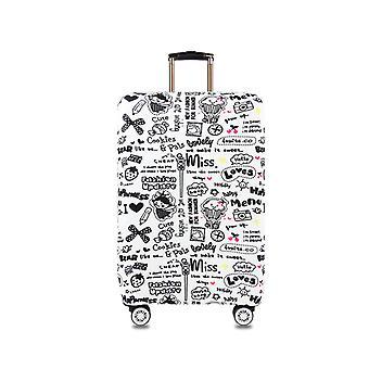 Modèle de peinture de texte protecteur de bagages de voyage