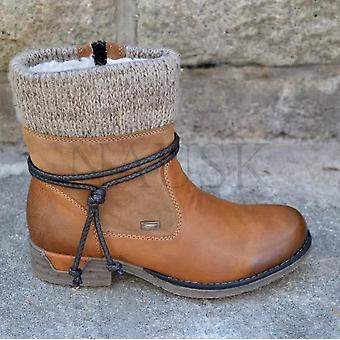 Winter Warm Basic Caviglia Toe Zip Platform Boot Scarpe donna