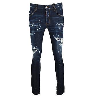 Dsquared2 Skater Jean Distressed Paint Splash Jeans