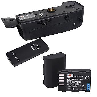 Dste ir remote vertical battery grip holder dmw-bggh5 compatible with panasonic lumix gh5 digital ca