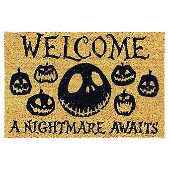 Nightmare Before Christmas A Nightmare Awaits Door Mat