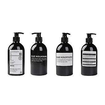 Soap Dispense  Brown Bathroom Shower Gel Refillable Shampoo Bottle Wash Hair