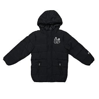 Boy's Money Junior Long Length Puffa Jacket in Black