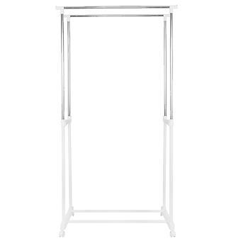 Vaateteline valkoinen - säädettävä korkeus - 95 - 165 cm korkea - jopa 16 kg