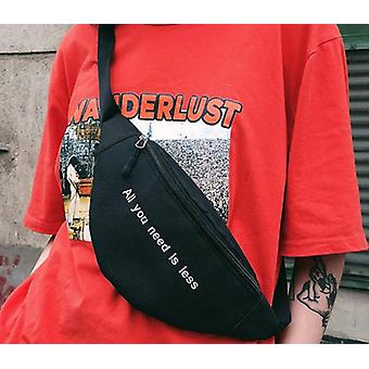 Dámská taška na opasek, Harajuku Style Waist Hip-hop Print Letter Fanny Pack, Bum