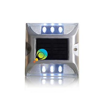 Aluminum Waterproof Led Solar Powered Roads Stud Reflective Ground Warning