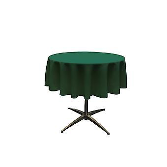 La Linen Polyester Poplin Tablecloth 51-Inches Round, Hunter Green