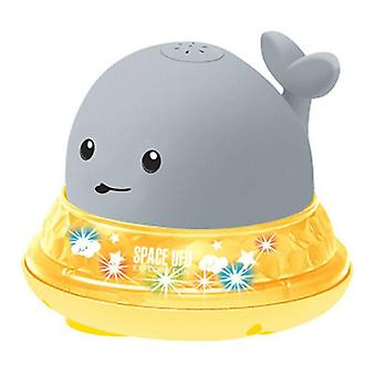 Cute Whale Electric Induction Sprinkler Spray With Music Light