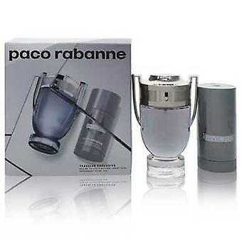 Invictus By Paco Rabanne Gift Set -- 3.4 Oz Eau De Toilette Spray + 2.5 Oz Deodorant Stick (men) V728-555051