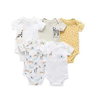 5 штук / пакет новорожденных 100% Хлопок Jumpsuits