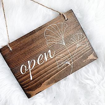 Käännettävä avoin ja suljettu merkki
