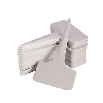 Hvit plast Pvc Plant, T-type, Tags Markører, Barnehage Hage Etiketter, Potter