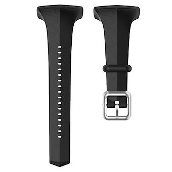 För POLAR Polar FT60 Women&s Silicone Watch Strap(Svart)
