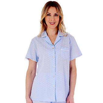 Slenderella PJ77234 Ensemble pyjama en coton tacheté Femme's
