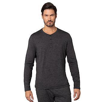 Mens Long Sleeve Henley Neckline Shirt