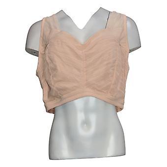 Rhonda Shear 3X Una malla a rayas sujetador de ocio extraíble almohadillas rosas 700670
