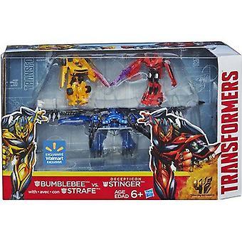 Transformers bumblebee & strafe vs decepticon stinger