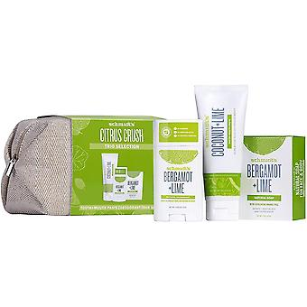Schmidt's Citrus Crush TRIO Vegan and Cruelty-Free Christmas Giftset, Alcohol Free Natural Deodorant