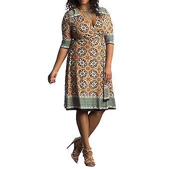 Kiyonna   Beguiling Border Wrap Dress