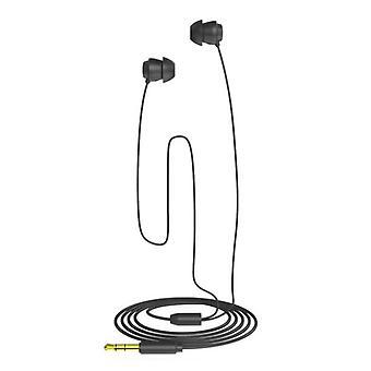 Zachte siliconen slaapoortelefoons met microfoon in-ear hoofdtelefoon
