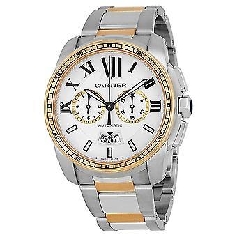 Cartier Calibre de Cartier Chronograph Automatic Silver Dial Men's Watch W7100042