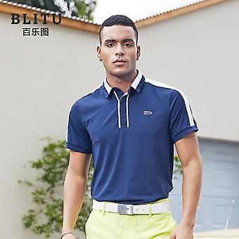 Blitu Men's Golf T-shirt Summer Sports Casual Wear Gym Clothing Men's Short