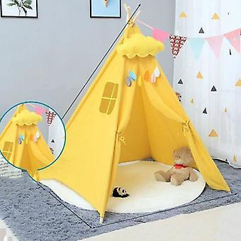 الأطفال & ق غرفة الأميرة خيمة داخلية لعب البيت للطي لعبة خيمة, الحجم:1.35m (الأصفر)