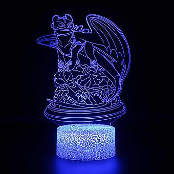 Lampy 3D z pilotem, lampa LED 16 Kolor Światło Ściemniane Przełącznik dotykowy USB / Wkład baterii, Dekoracja urodzinowa Świąteczny prezent dla dziecka Teen Woman Mężczyzna-#751