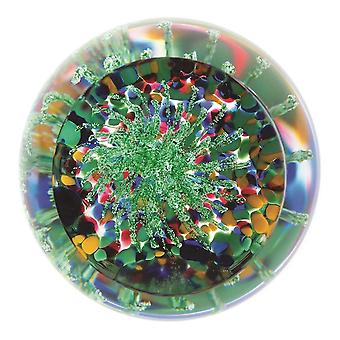 Caithness Glass Party Poppers 5cm Green Paperweight