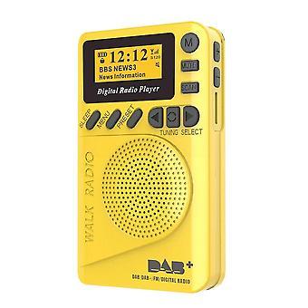 Pocket dab digital radio mini dab+ with mp3 player fm lcd display