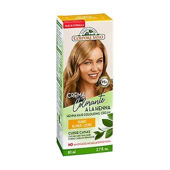 Blonde henna coloring cream 80 ml
