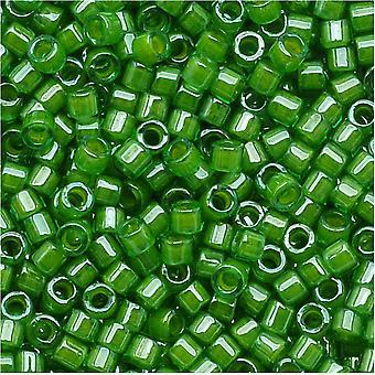 ميوكي ديليكا بذور الخرز، 11/0 الحجم، 7.2 غرام، الجير اصطف كريستال الأخضر DB274