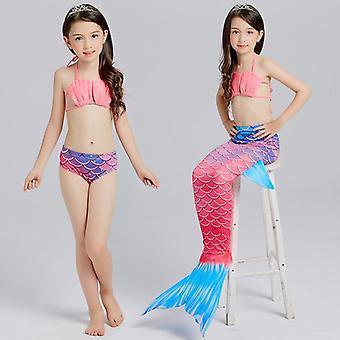 Kinderen zeemeermin split badpak meisjes bikini kan worden uitgerust met flippers badmode