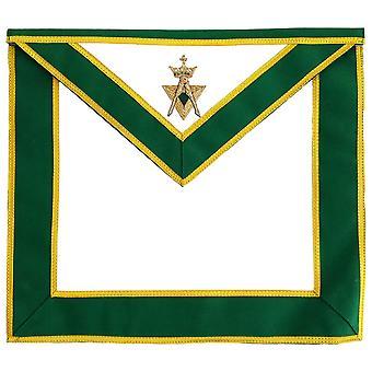 Liittoutuneiden vapaamuuraritutkinto amd ohi suvereeni mestari esiliina käsi kirjailtu vihreä aihe