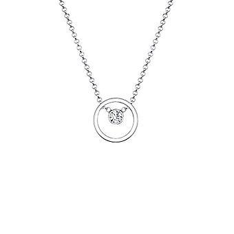 Elli Dames Ketting in Zilver 925 met Wit Kristal