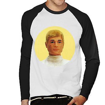 Action Man Blonde Hair Mäns Baseball Långärmad T-Shirt