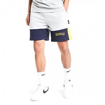 Hoodrich OG Panel V2 Jog Shorts Grey/Navy/Gold
