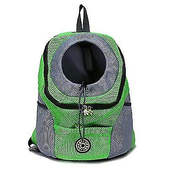 S 30 * 34 * 16cm umăr verde portabil câine de călătorie rucsac pentru animale de companie az6457