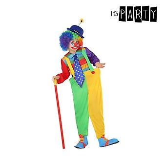Costume pour enfants Clown masculin Vert Jaune (4 Pcs)
