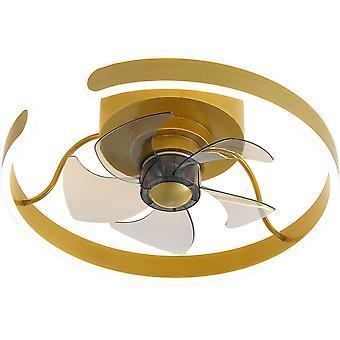 45cm Personalized Ceiling Fan Light 220V Three Tone Light 26W Gold