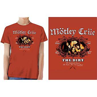 Motley Crue - Smutsens XX-Stora T-Shirt - Vintage Röd