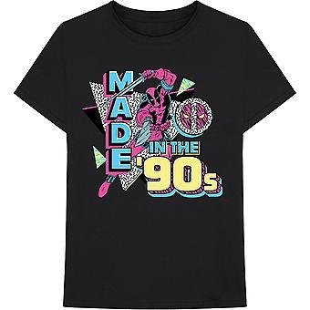 Marvel Comics Deadpool Black 90S Official Tee T-Shirt Unisex