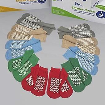 Dynarex Slipper Socks Soft Sole Large Blue Ankle High, Blue 1 Each