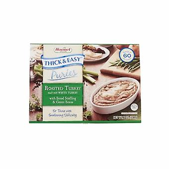 Hormel Puree Thick & Easy, with Stuffing / Green Beans Flavor, Case of 7 X 7 Oz