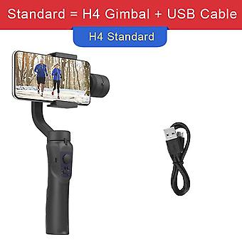 Giausa h4 3 axis gimbal stabilizer for selfie stick tripod for smartphone gopro live vlog phone camera video record handheld