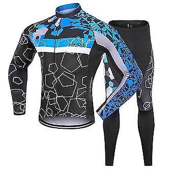 自転車の自転車ジャージ男性冬のサーマルフリースサイクリング服セット