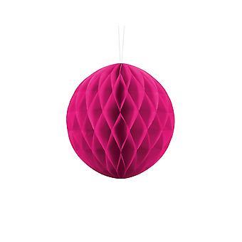 20cm Dark Pink Tissue Paper Honeycomb Ball Wedding Party Decoration